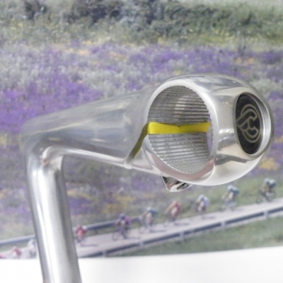 Cinelli XA 135mm stem with 26.4 clamp size, Yellow insert.