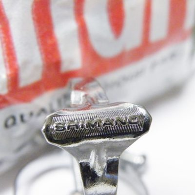 Shimano chrome platted top tube brake cable guide clip