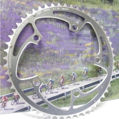 Stronglight competition road chainring 9-10 speed  52t.  BCD 130