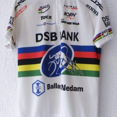 DSB Bank short sleeve jersey in size L , Marianne Vos