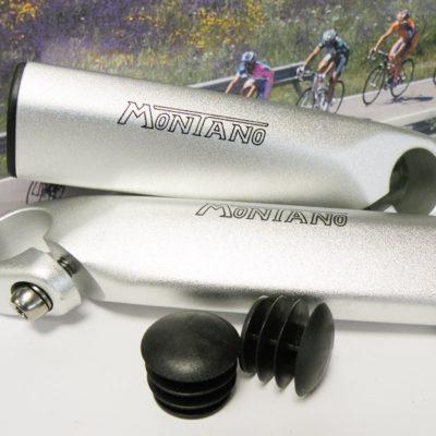 Montano MTB handlebar barends,matte silver finish