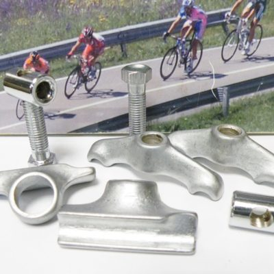 Campagnolo seat pin steel saddle rail clamp set