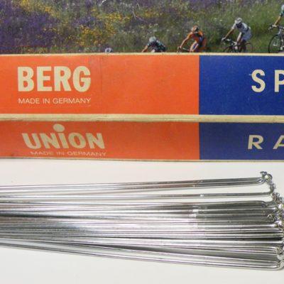 Berg Union chrome spokes 14g – 302mm , 36 pieces