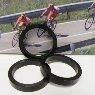 1″ inch black aluminum spacer 5 mm