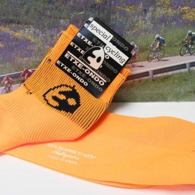 Etxe-ondo orange Euskatel cycling socks