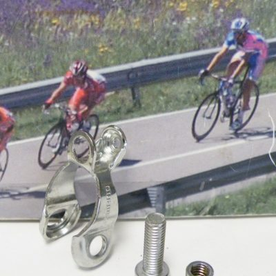 Shimano rearmech outher cable stopper clamp Dura Ace ,  chromed model