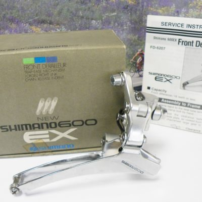 Shimano 600 braze on front derailleur model 6207 boxed