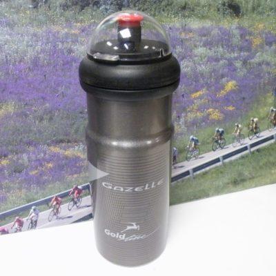 Elite aluminium water bottle with Gazelle print