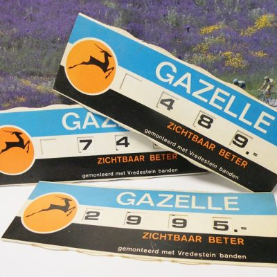 3 pieces shop dealer price tags Gazelle