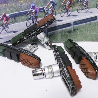 XLC V-brake pads with carbon look holder